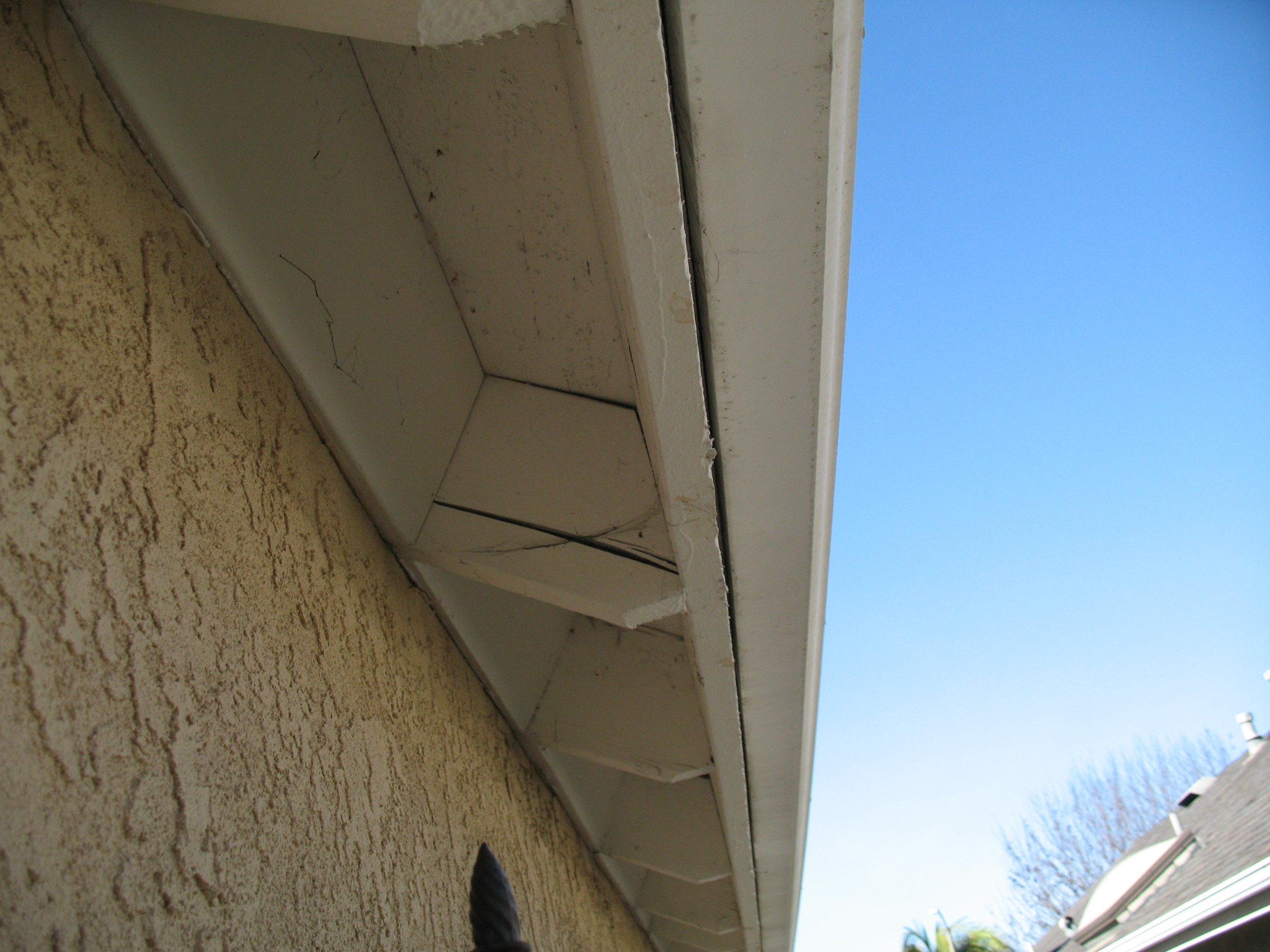 Siding Trim And Roof Overhang Termite Damage Pictures